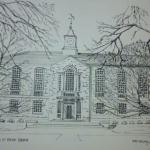 8 x 10 Pen and Ink Green Hall, Univeristy of Rhode Island